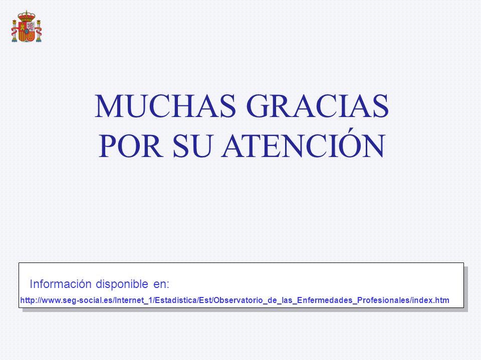 http://www.seg-social.es/Internet_1/Estadistica/Est/Observatorio_de_las_Enfermedades_Profesionales/index.htm Información disponible en: MUCHAS GRACIAS