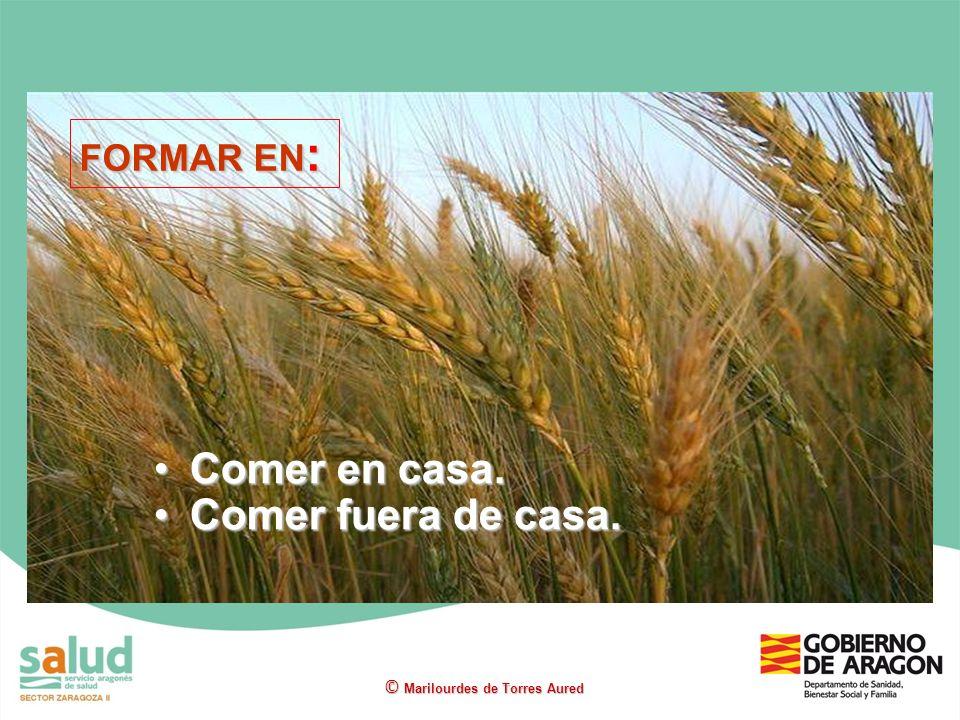 Comer en casa.Comer en casa. Comer fuera de casa.Comer fuera de casa. © Marilourdes de Torres Aured FORMAR EN :