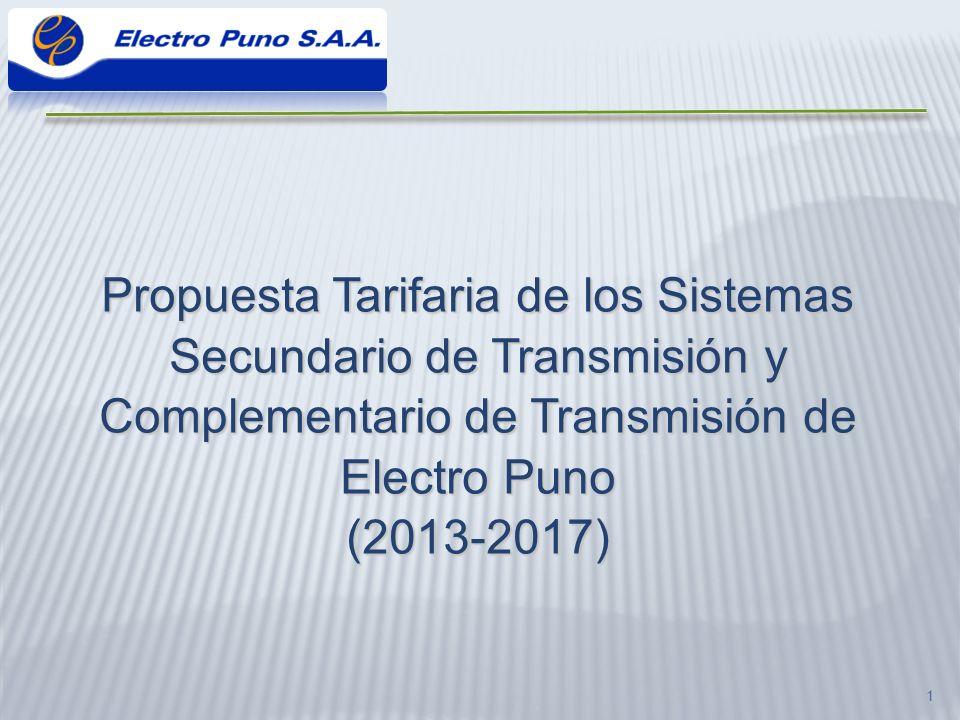 22 AñoTitularNombre ElementoInstalaciónCódigo de Módulo Estándar Inversión US$ De 2011 a 2013*ELECTRO PUNO Transformador de Potencia 60/10 kV, 25 MVA SET AT/MT PUNOTP-060010-025SI3E759 660 2014ELECTRO PUNO Celda de Línea 60 kV a Derviación_01 SET AT/MTPUNO-SURCE-060SIR3C1ESBLI2275 953 2014ELECTRO PUNO Celda de Línea 60 kV a Derviación_02 SET AT/MTPUNO-SURCE-060SIR3C1ESBLI2275 953 2014ELECTRO PUNOCelda de Transformador 60 kVSET AT/MTPUNO-SURCE-060SIR3C1ESBTR2209 889 2014ELECTRO PUNOCelda de Transformador 10 kVSET AT/MTPUNO-SURCE-010SIR3C1ESBTR152 782 2014ELECTRO PUNOCelda de Alimentador 10 kVSET AT/MTPUNO-SURCE-010SIR3C1ESBAL167 100 2014ELECTRO PUNOCelda de Alimentador 10 kVSET AT/MTPUNO-SURCE-010SIR3C1ESBAL167 100 2014ELECTRO PUNOCelda de Medición 10 kVSET AT/MTPUNO-SURCE-010SIR3C1ESBMD114 645 2014ELECTRO PUNO Lne Der - Puno Sur doble terna 60kV LÍNEALT-060SIR1TAD1C1120A92 578 2015ELECTRO PUNOCelda de Alimentador 23 kV SET MAT/AT/MT AZANGARO CE-023SIR3C1ESBAL163 267