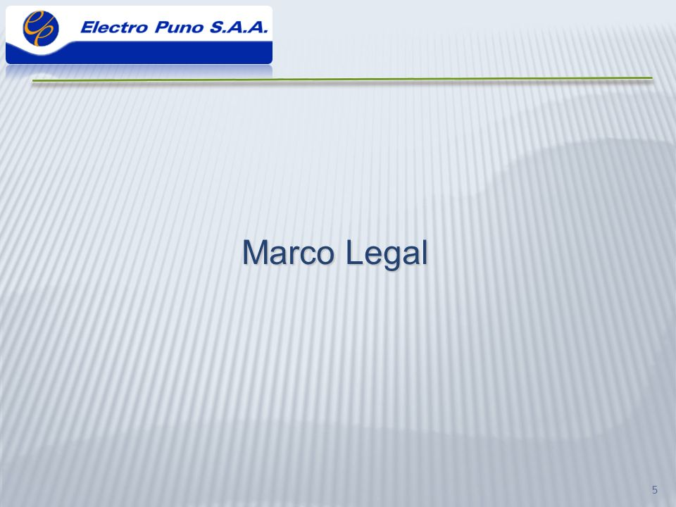 5 Marco Legal