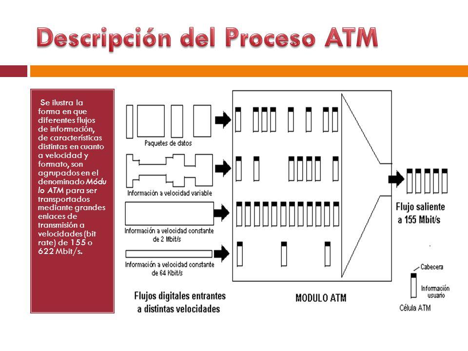Se ilustra la forma en que diferentes flujos de información, de características distintas en cuanto a velocidad y formato, son agrupados en el denomin