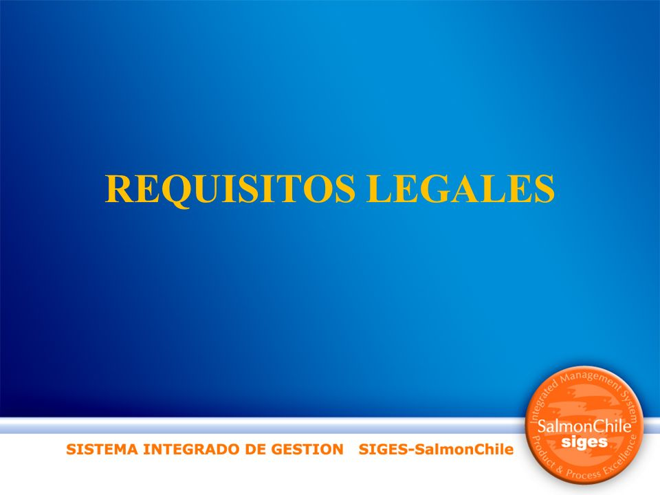 REQUISITOS LEGALES