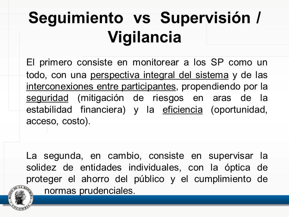 El primero consiste en monitorear a los SP como un todo, con una perspectiva integral del sistema y de las interconexiones entre participantes, propen