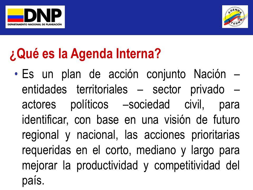 Es un plan de acción conjunto Nación – entidades territoriales – sector privado – actores políticos –sociedad civil, para identificar, con base en una