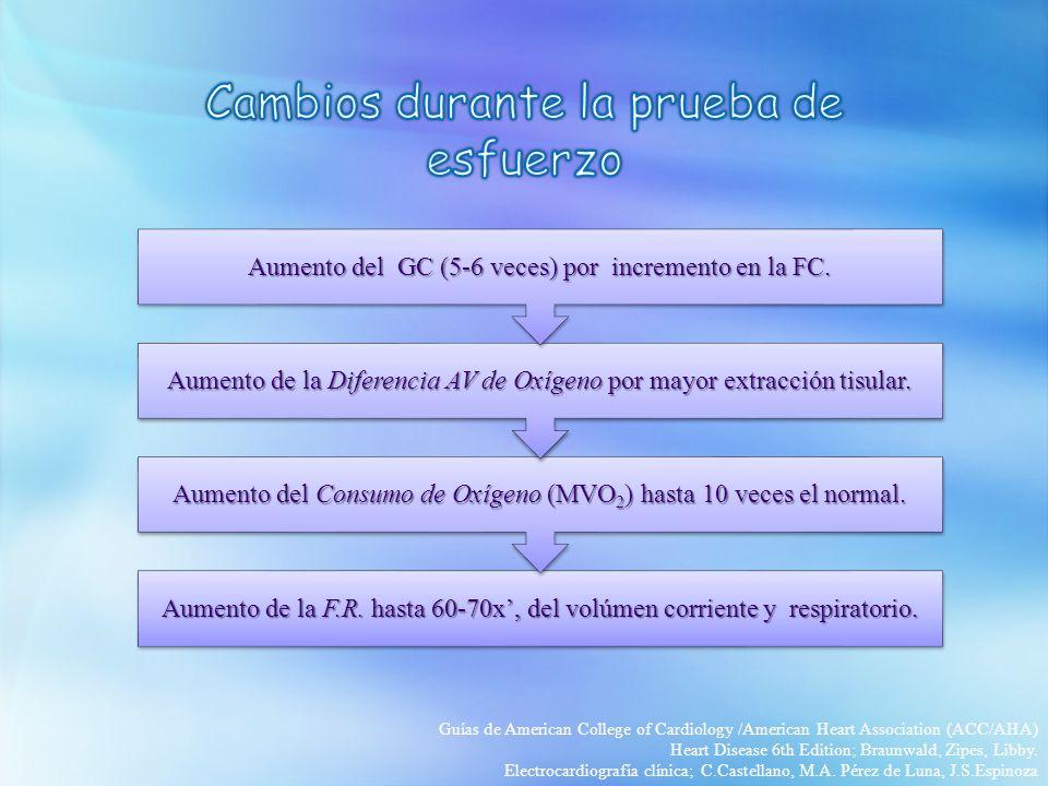 Aumento de la F.R. hasta 60-70x, del volúmen corriente y respiratorio. Aumento del Consumo de Oxígeno (MVO2) hasta 10 veces el normal. Aumento de la D
