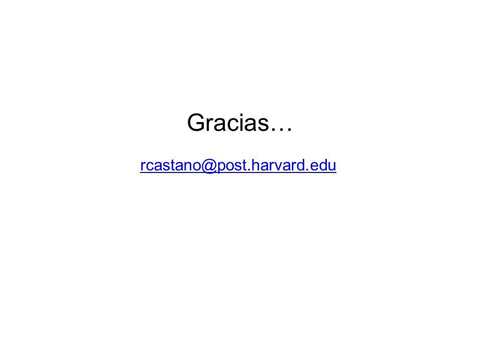 Gracias… rcastano@post.harvard.edu