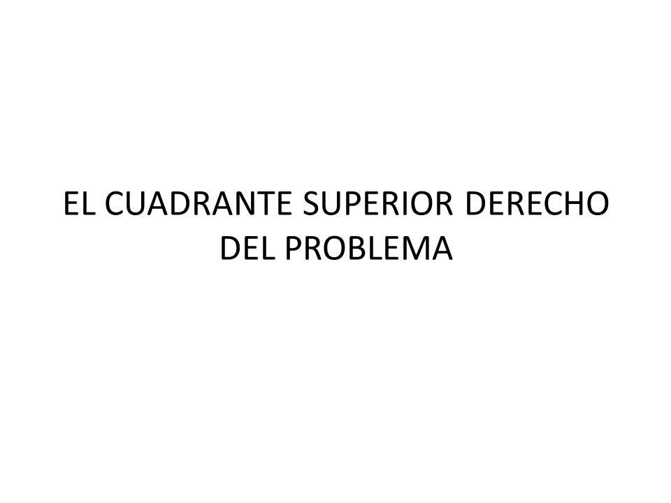 EL CUADRANTE SUPERIOR DERECHO DEL PROBLEMA