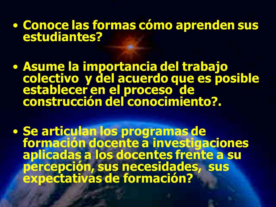 Mariela Salgado A Conoce las formas cómo aprenden sus estudiantes.