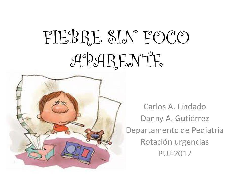 Carlos A. Lindado Danny A. Gutiérrez Departamento de Pediatría Rotación urgencias PUJ-2012 FIEBRE SIN FOCO APARENTE