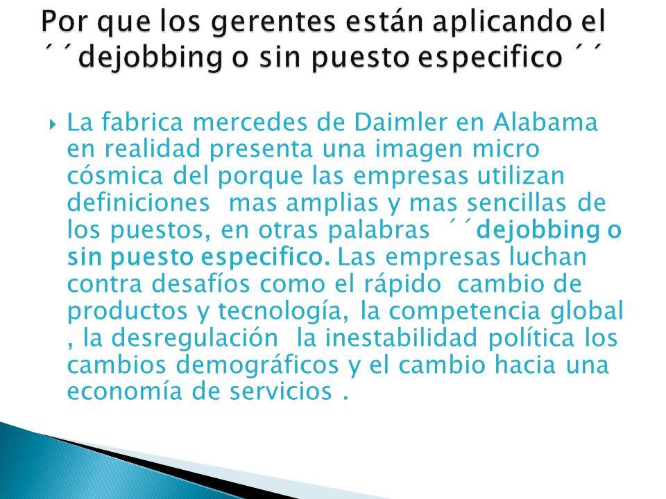La fabrica mercedes de Daimler en Alabama en realidad presenta una imagen micro cósmica del porque las empresas utilizan definiciones mas amplias y ma
