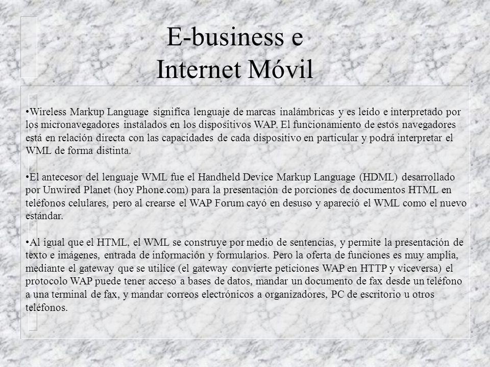 El Wireless Markup Language (WML) es el lenguaje con el que se programan los contenidos de los sitios pensados para ser visitados por dispositivos portátiles como teléfonos celulares, computadoras de mano, pagers.