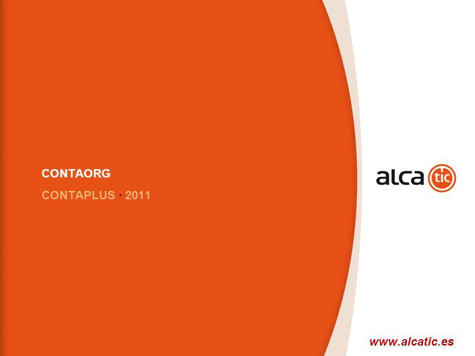 16 © 2008 Sage CONTAORG CONTAPLUS · 2011 www.alcatic.es