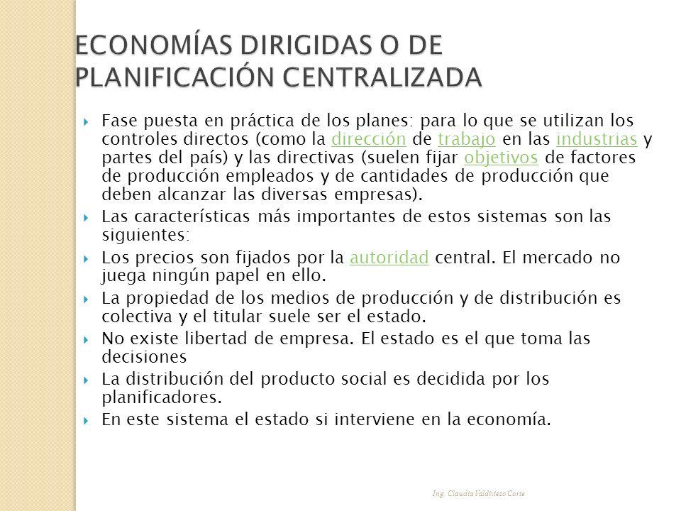 Ing. Claudia Valdiviezo Corte Fase puesta en práctica de los planes: para lo que se utilizan los controles directos (como la dirección de trabajo en l