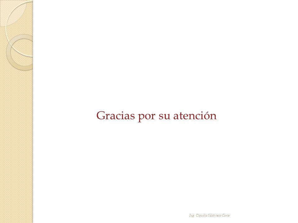 Gracias por su atención Ing. Claudia Valdiviezo Corte