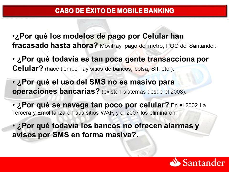 CASO DE ÉXITO DE MOBILE BANKING ¿Por qué los modelos de pago por Celular han fracasado hasta ahora.