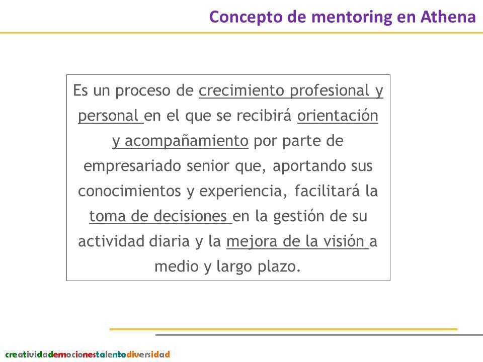 ¿Quiénes son las mentorizadas.