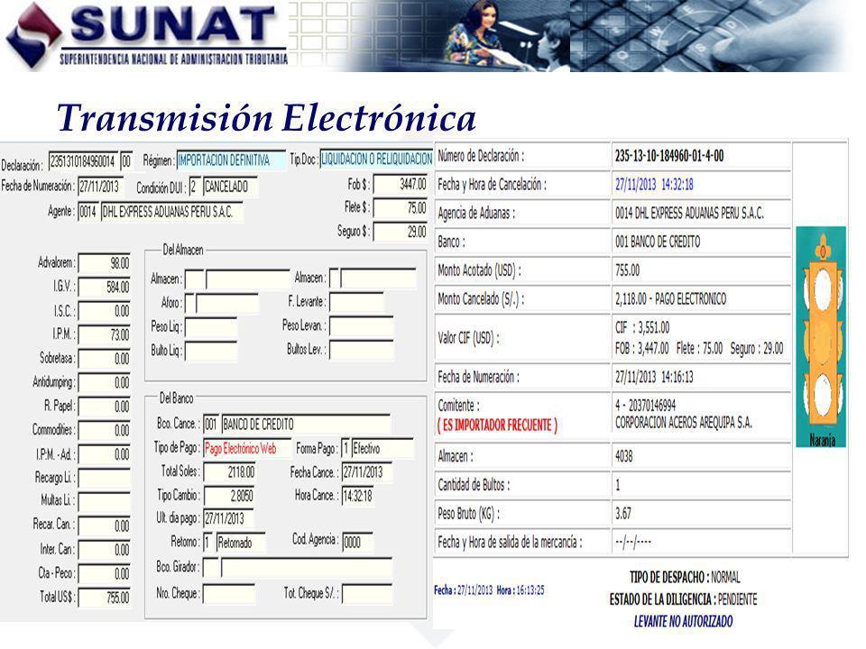 Transmisión Electrónica