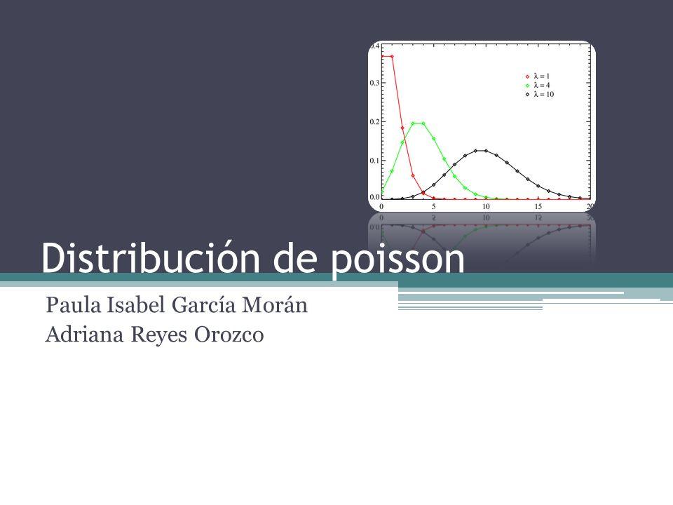 Distribución de poisson Paula Isabel García Morán Adriana Reyes Orozco