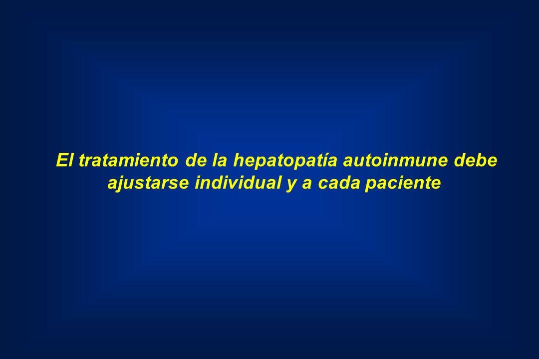 El tratamiento de la hepatopatía autoinmune debe ajustarse individual y a cada paciente
