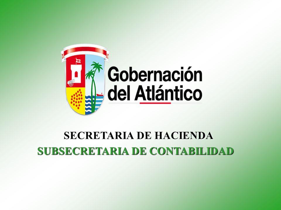 SECRETARIA DE HACIENDA SUBSECRETARIA DE CONTABILIDAD