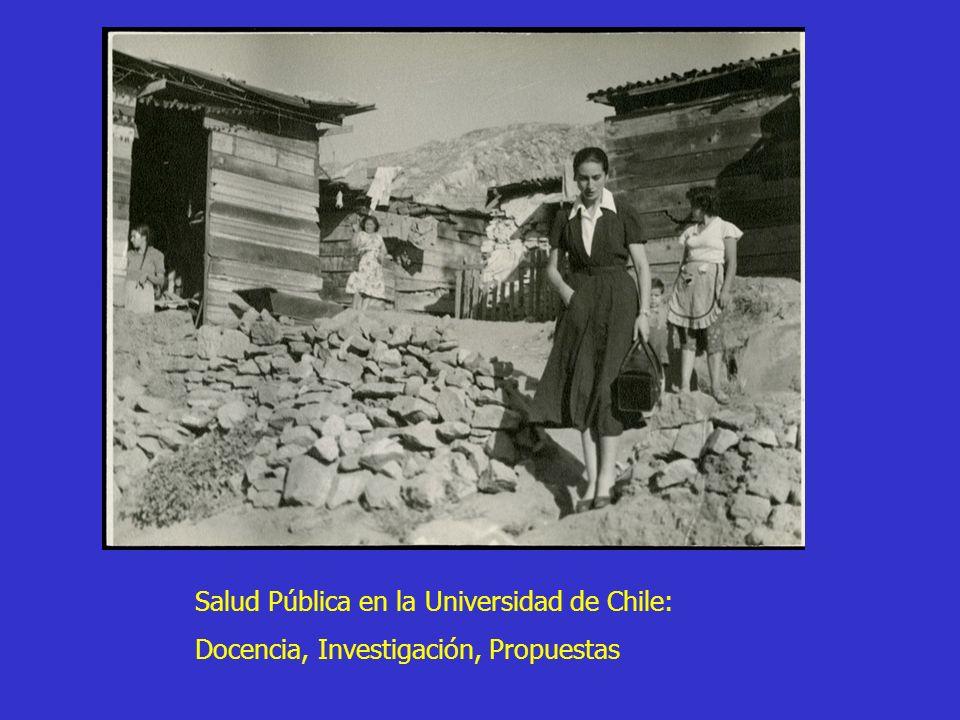 Salud Pública en la Universidad de Chile: Docencia, Investigación, Propuestas