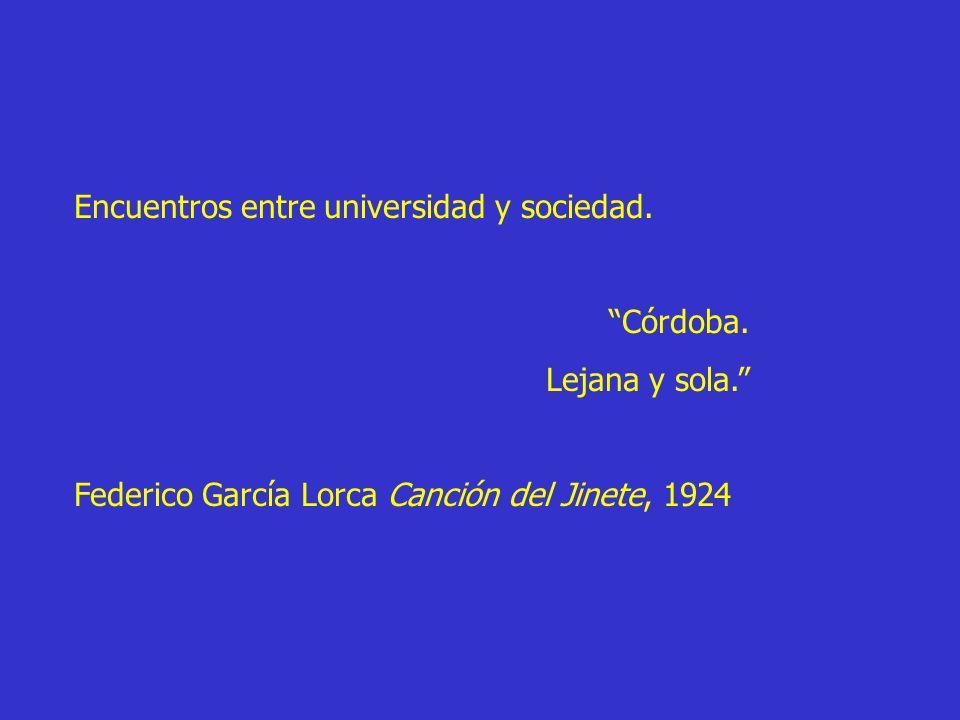 Encuentros entre universidad y sociedad. Córdoba. Lejana y sola. Federico García Lorca Canción del Jinete, 1924