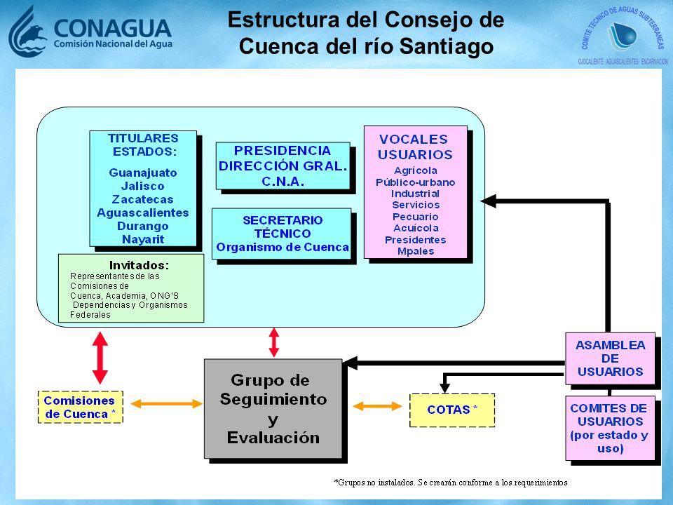 Estructura del Consejo de Cuenca del río Santiago