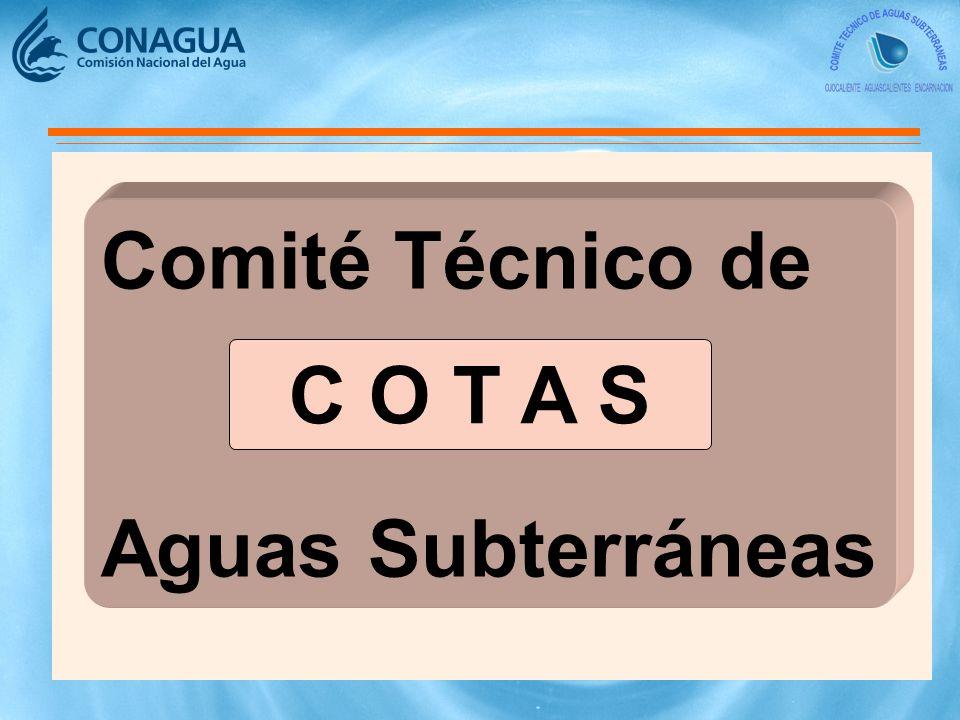 Comité Técnico de Aguas Subterráneas C O T A S