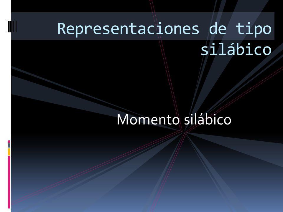 Momento silábico Representaciones de tipo silábico