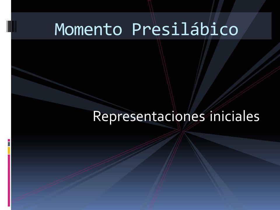 Representaciones iniciales Momento Presilábico