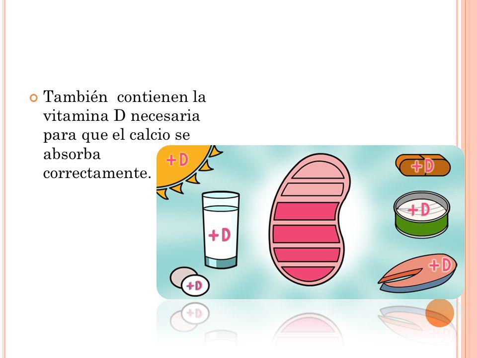 Una dieta con un buen contenido de calcio es suficiente para obtener los requerimientos diarios de estas sustancias sin que se requieran suplementos.