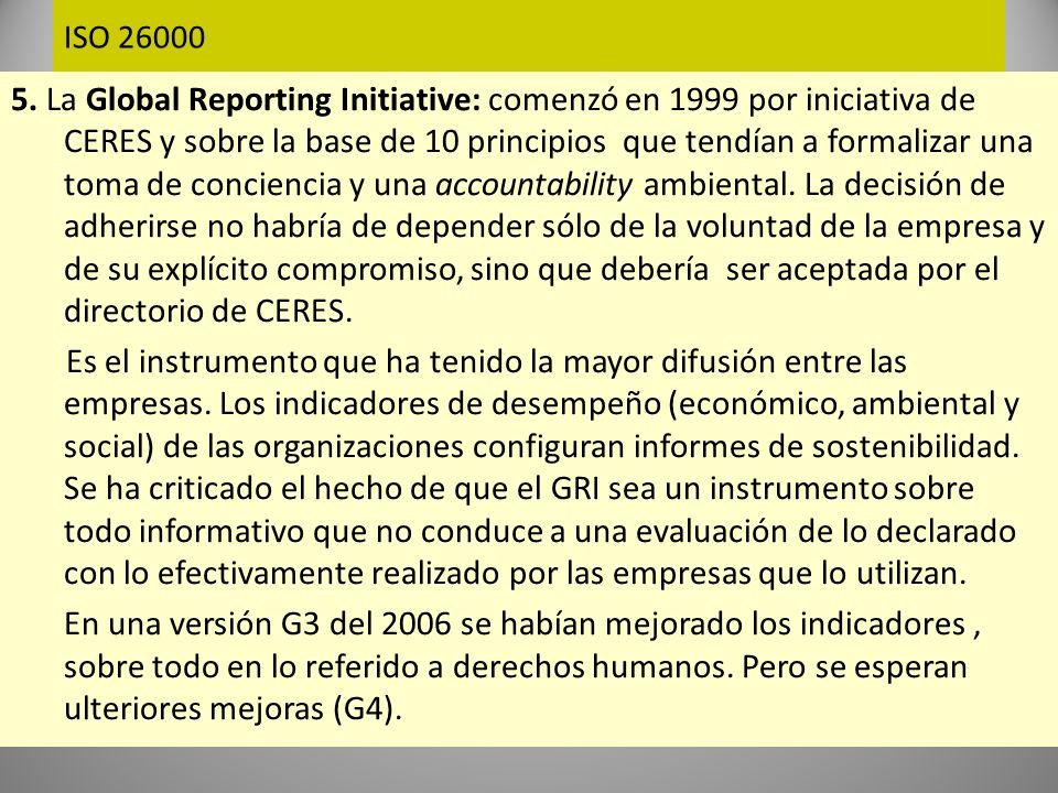 ISO 26000 La norma ISO 26000 Para algunos deberá constituirse en la guía global para la RS en todos los ámbitos y no limitarse al mundo de los negocios y a la actividad corporativa.