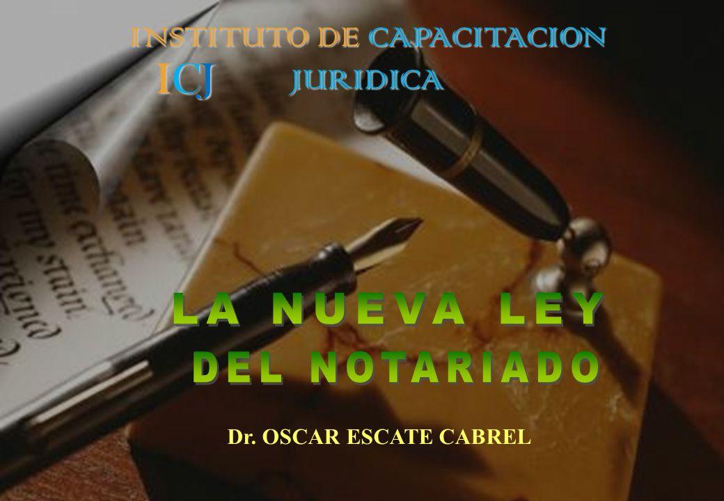 ICJICJICJICJ Dr. OSCAR ESCATE CABREL INSTITUTO DE CAPACITACION JURIDICA