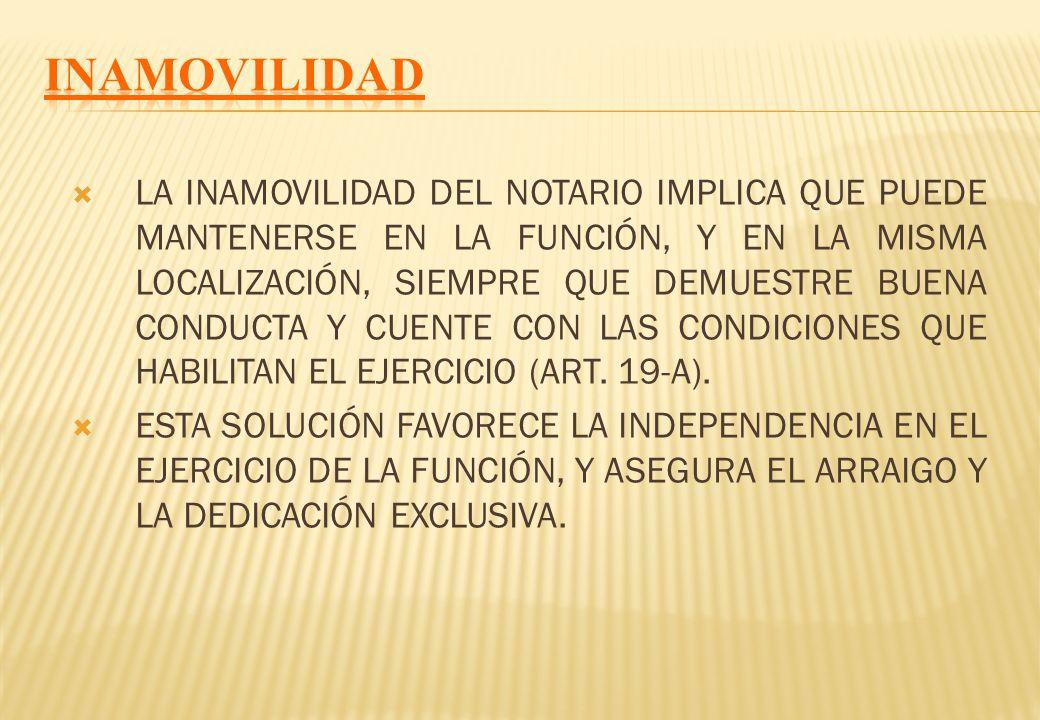HAY QUE DIFERENCIAR: 1) TÍTULO DE NOTARIO (DEBE INCORPORARSE EN 30 DÍAS, PRORROGABLE; SINO ES OBJETO DE CESE AUTOMÁTICO Y EXTINCIÓN DEL TÍTULO: ART. 2