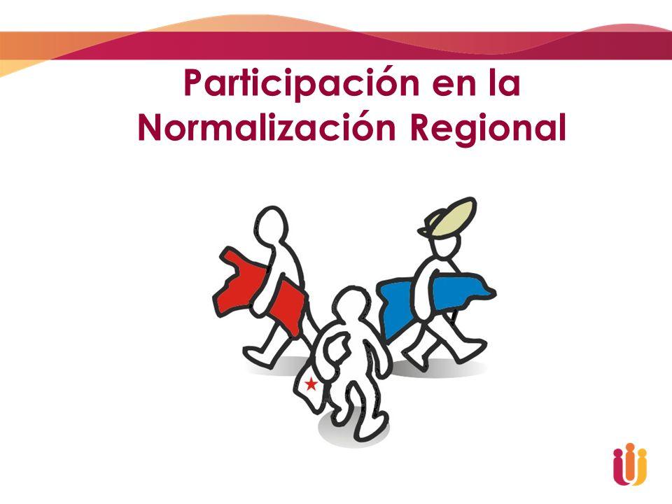 Participación en la Normalización Regional