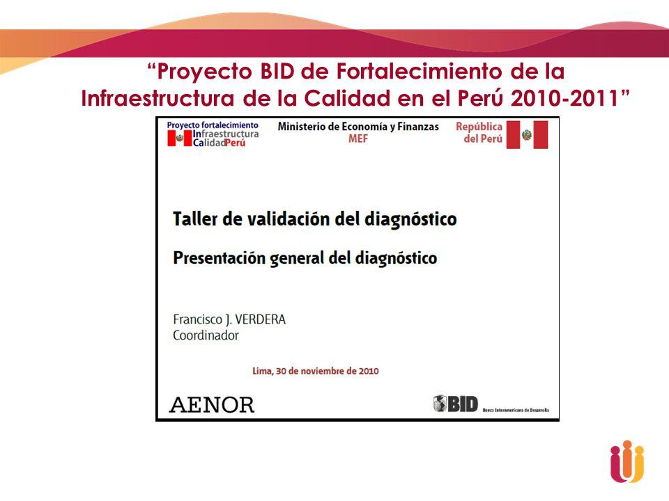 Proyecto BID de Fortalecimiento de la Infraestructura de la Calidad en el Perú 2010-2011