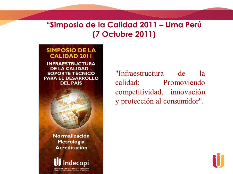 Simposio de la Calidad 2011 – Lima Perú (7 Octubre 2011)