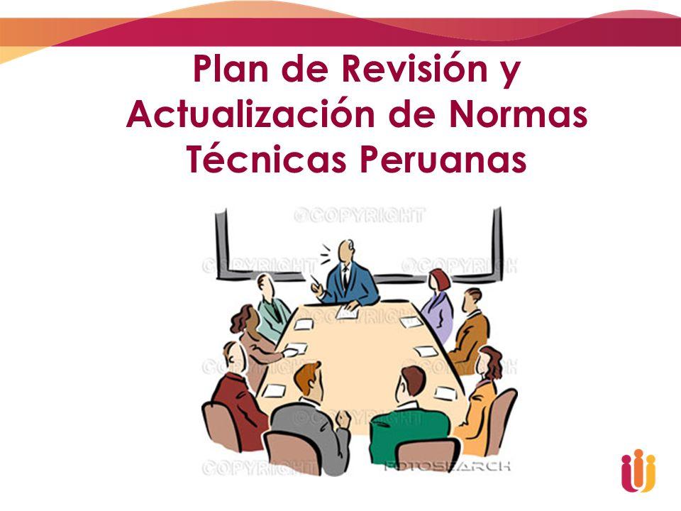 Participación de PERÚ en la Normalización Internacional 24 Comités espejo de la ISO (Miembro Pleno desde Enero 2007) 4 comisiones técnicas - Comités Espejo del Codex Alimentarius 3 participaciones en Comités de la IEC (país afiliado desde el 2002)