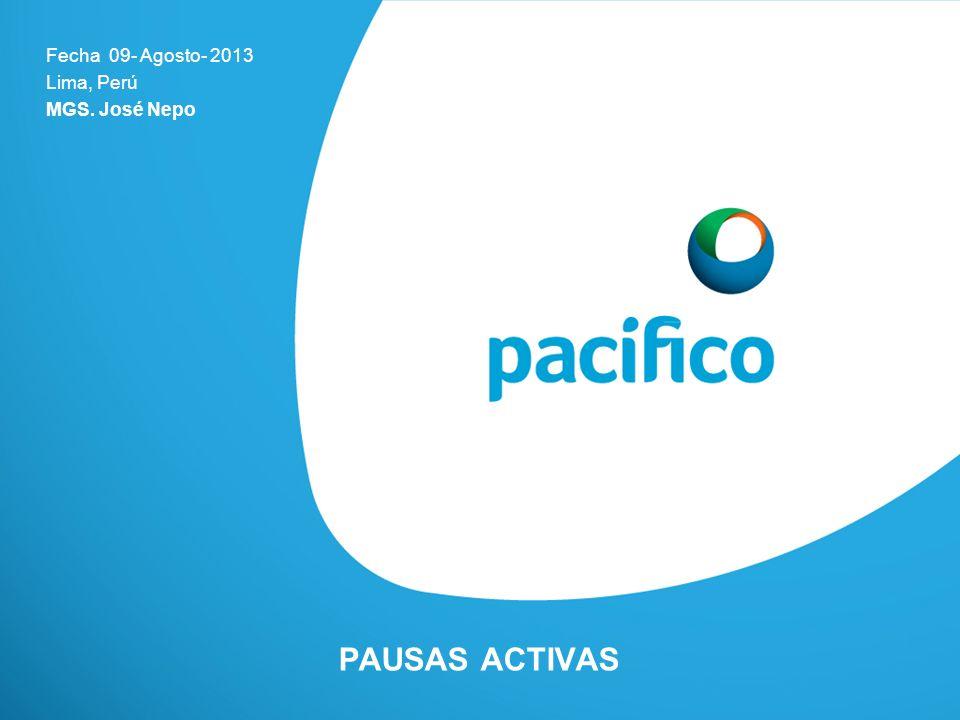 PAUSAS ACTIVAS Fecha 09- Agosto- 2013 Lima, Perú MGS. José Nepo