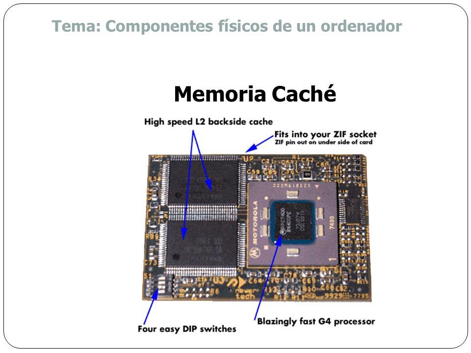Alta velocidad Puede residir en dos ubicaciones: Dentro de la CPU (Caché L1) Entre la CPU y la memoria RAM (Caché L2) Almacena datos e instrucciones q