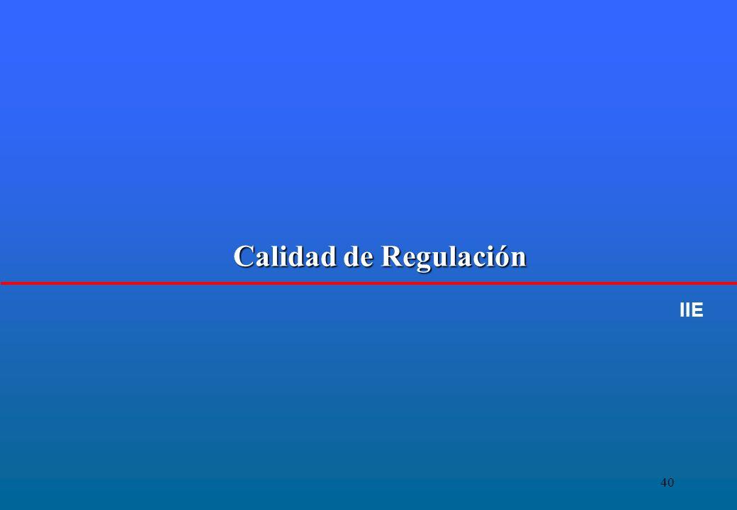 40 Calidad de Regulación IIE