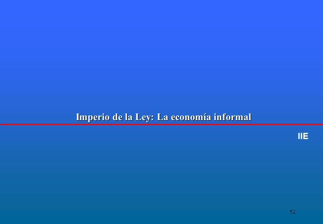 52 Imperio de la Ley: La economía informal IIE