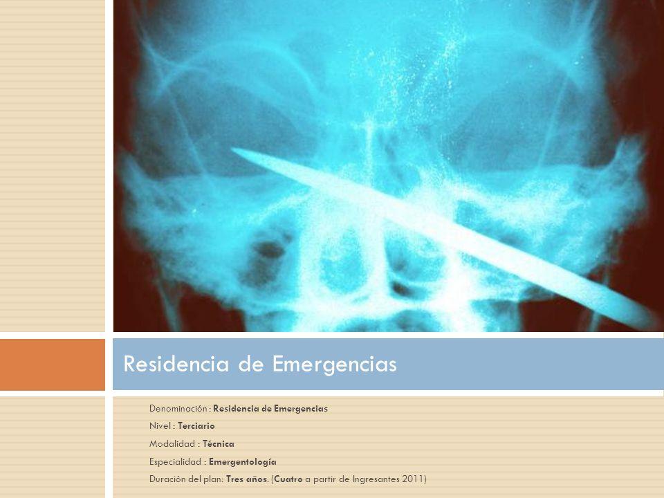 -Especializar a los profesionales en el área de medicina de urgencias -auspiciar el aprendizaje teórico riguroso en ámbitos específicos de la emergentología.