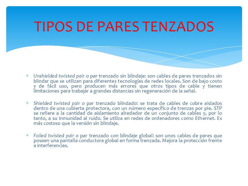 COBRE BLINDADO ScTP (siglas en ingles de Screened Twisted Pair ó Par Trenzado Apantallado)