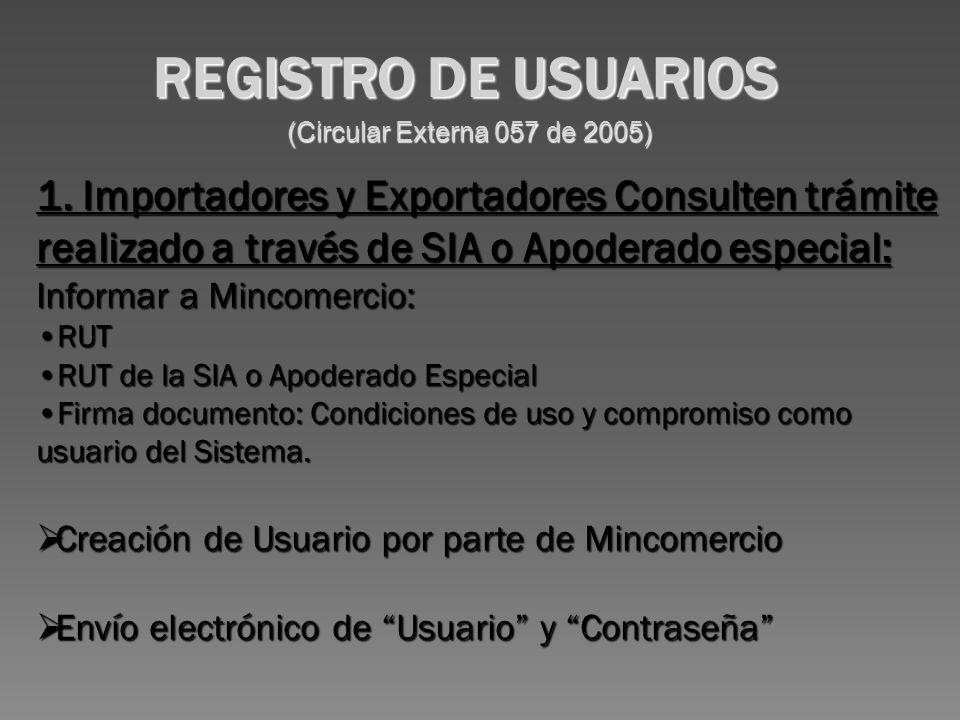 (Circular Externa 057 de 2005) 1.