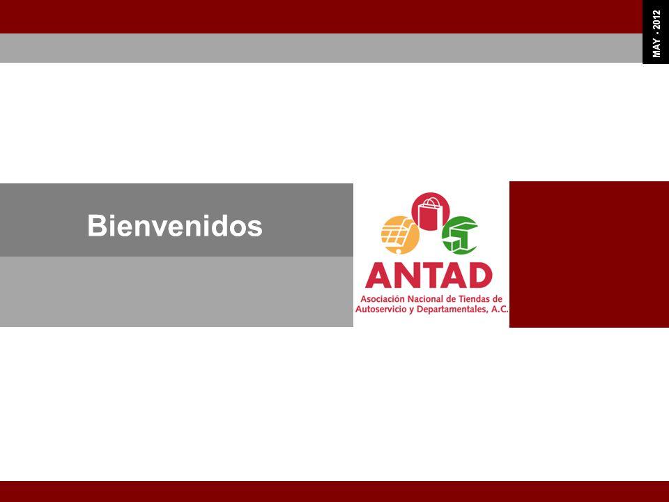OCT 11 MAY - 2012 3 Objetivos Plan Estratégico ANTAD 3.1 La ANTAD representa y defiende los intereses de los Asociados y realiza las gestiones necesarias para facilitar el desarrollo del sector, mediante acciones de cabildeo ante los tres poderes de la unión en sus diferentes órdenes de gobierno 3.2 La ANTAD proporciona servicios especializados para el fortalecimiento y desarrollo de los Asociados 3.3 La ANTAD cuenta con la estructura directiva y operativa, así como con un mecanismo operación al eficiente que le permite dar respuesta a los requerimientos de sus Asociados