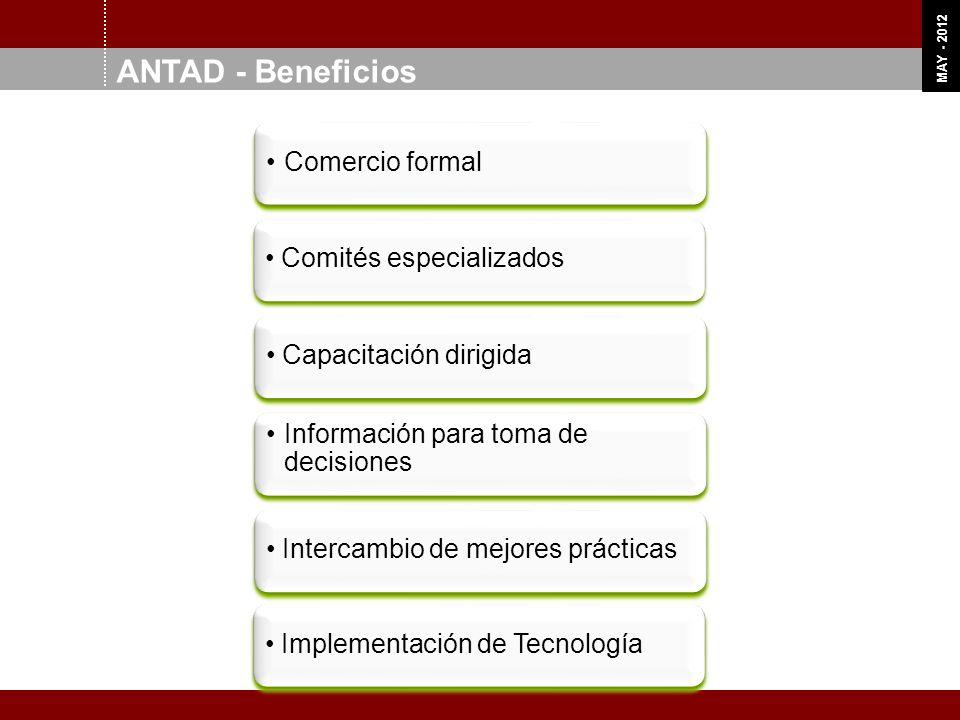 OCT 11 MAY - 2012 ANTAD - Beneficios