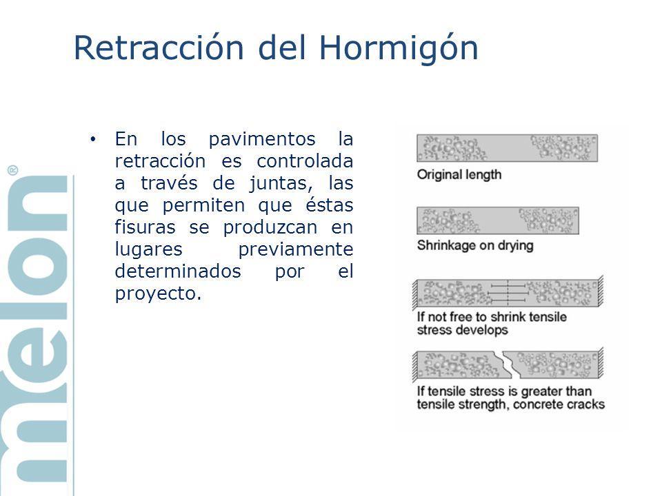 Retracción del Hormigón Sin embargo las juntas de construcción no evitan que se produzcan fisuras entre juntas, lo que implica costos de mantención y reparación.