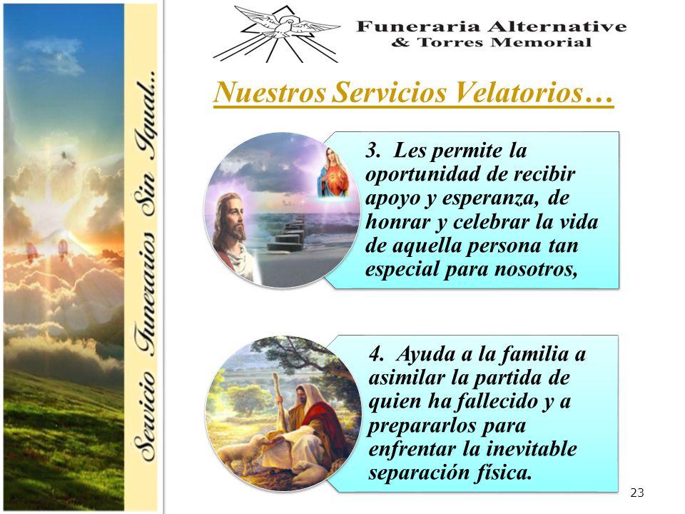 23 Nuestros Servicios Velatorios… 3.