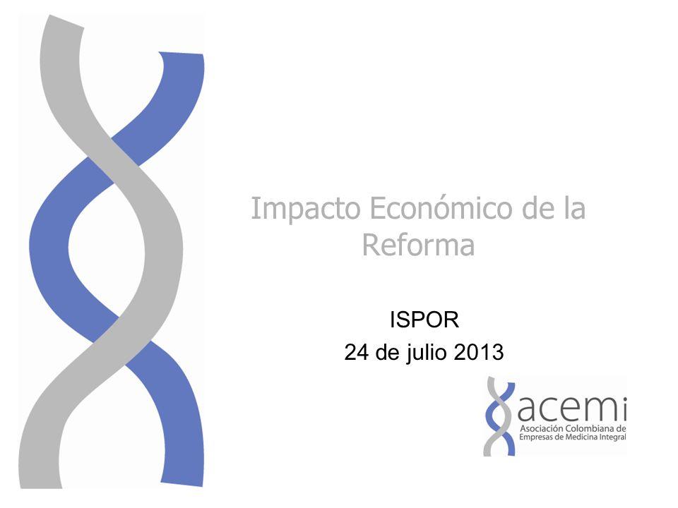 Impacto Económico de la Reforma ISPOR 24 de julio 2013